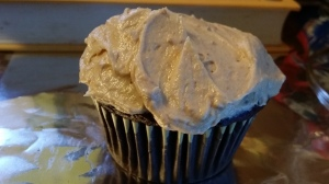 Peanut butter Frosted & Filled Cupcakes