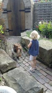 My niece training Nikki