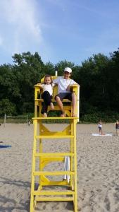 Making memories with my grandchildren at Lake Erie
